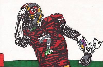 Colin Kaepernick Drawing - Colin Kaepernick 2 by Jeremiah Colley