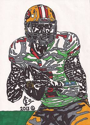 Colin Kaepernick Drawing - Colin Kaepernick 4 by Jeremiah Colley