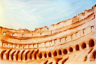 Painting - Coliseum, Rome, Italy by Alessandro Nesci