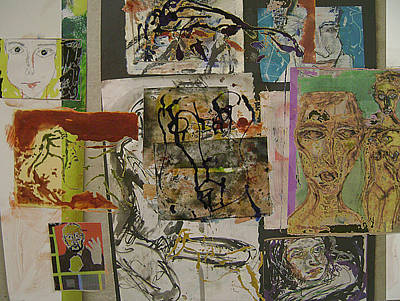 Collage 27 Art Print by Noredin Morgan
