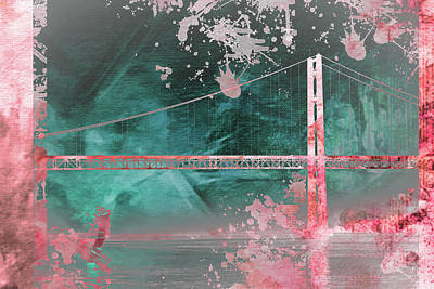 Golden Gate Mixed Media - Collage 5 by Priscilla Huber