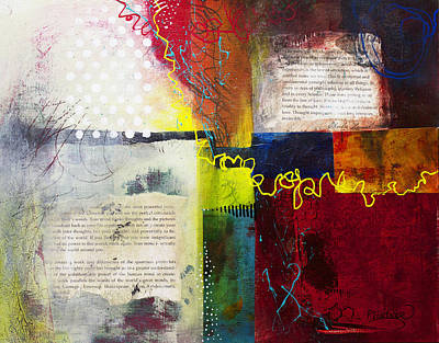 Art Print featuring the painting Collage Art 3 by Patricia Lintner