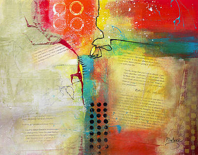 Art Print featuring the painting Collage Art 5 by Patricia Lintner