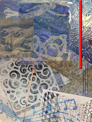 Painting - Collage In Blues by Vicki Ross