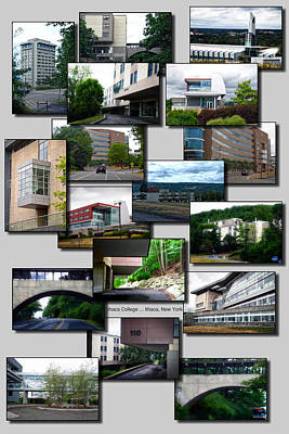 Collage Ithaca College Ithaca New York Vertical Art Print by Thomas Woolworth