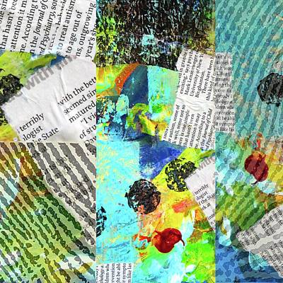 Mixed Media - Collage No 11 by Nancy Merkle