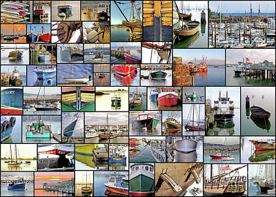 Photograph - Collage Of Boats  by Janice Drew