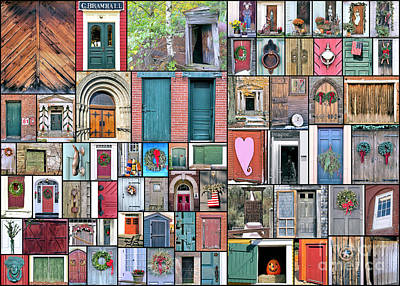 Photograph - Collage Of Doors by Janice Drew