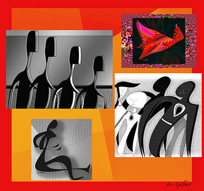 Digital Art - Collage Of Life by Iris Gelbart