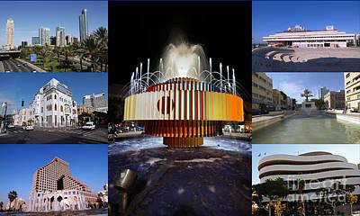Collage Of Tel Aviv Israel Art Print by Ilan Rosen