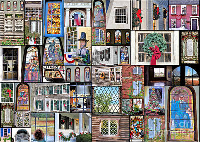 Photograph - Collage Of Windows  by Janice Drew