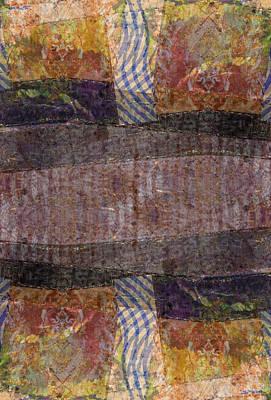 Digital Art - Collage Paper Kaleidoscope 1 by Kate Word