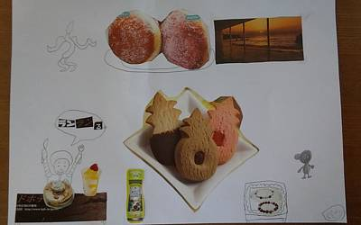 Food And Beverage Drawing - Collage by Sari Kurazusi