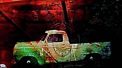 Digital Art - Collage Studebaker by Cathy Anderson