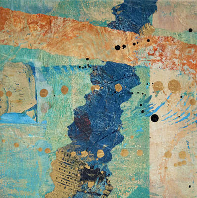 Mixed Media - Collaged Papers 3 by Kate Word