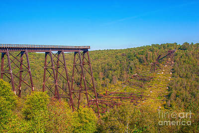 Kinzua Photograph - Collapsed Kinzua Railroad Bridge by Randy Steele