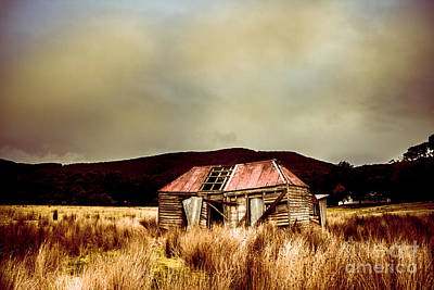 Photograph - Collapsing Old Wooden Farm Building by Jorgo Photography - Wall Art Gallery