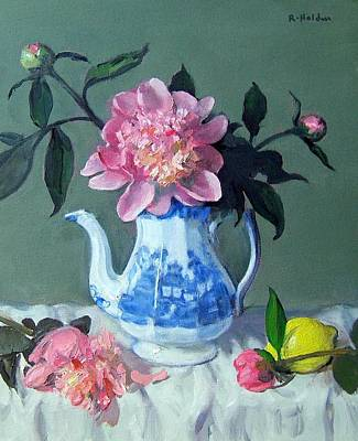 Painting - Collapsing Peonies by Robert Holden
