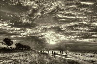 Photograph - Collecting Seashells On Sanibel Island by Jeff Breiman