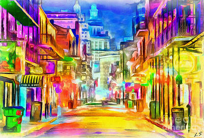 Painting - Collection New Orleans - 1 by Sergey Lukashin