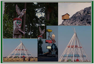 Mixed Media - Collection Of Canadian Landmark Roadshows On Way To Canada West  by Navin Joshi