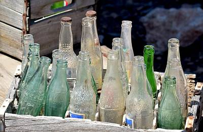 Photograph - Collection Of Desert Soda Pop Bottles by rd Erickson
