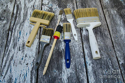 Photograph - Collection Of Paintbrushes by Kennerth and Birgitta Kullman