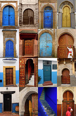 Morocco Photograph - Collection Of Sixteen Doors Of Morocco by Reimar Gaertner