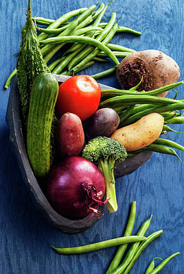 Collection Of Vegetables Still Life Art Print by Vishwanath Bhat