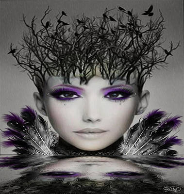 Surrealism Digital Art - Collective Thoughts by Swedish Attitude Design