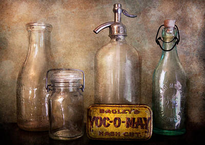 Collector - Bottle - Container Collection  Art Print by Mike Savad
