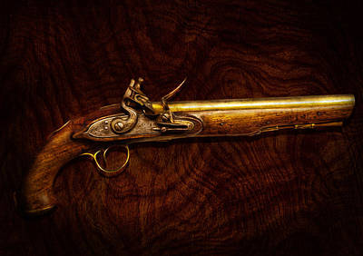Suburbanscenes Photograph - Collector - Gun - Flintlock Pistol  by Mike Savad