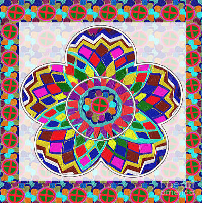 Painting - Collector Quality High Energy N Healing Mandala Decorations By Navinjoshi At Fineartamerica.com by Navin Joshi