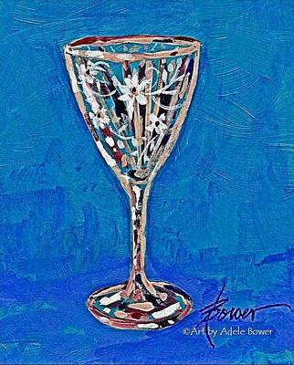 Stemware Painting - Collectors Item  by Adele Bower