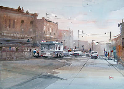Bus Painting - College Avenue - Appleton by Ryan Radke