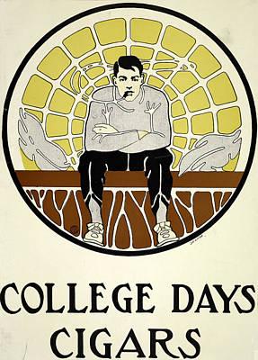 Digital Art - College Days Cigars by Phat Artz