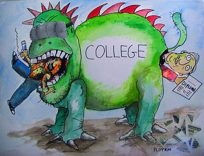 Diploma Drawing - College Education by Jonathan Plotkin