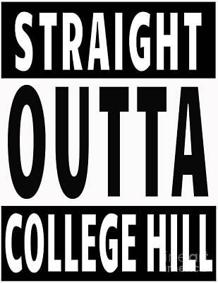 Digital Art - College Hill Slogan by Mary Bellew