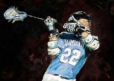 Scott Melby Painting - College Lacrosse 12 by Scott Melby