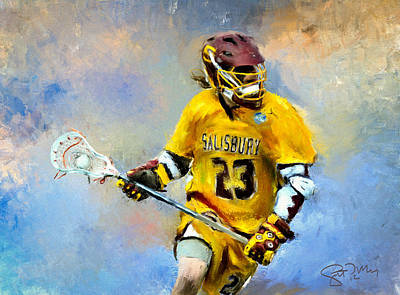 Scott Melby Painting - College Lacrosse 9 by Scott Melby