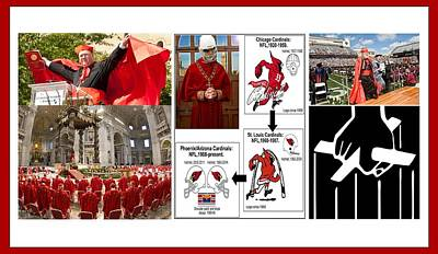 Mixed Media - College Of Cardinals by Peter Hedding