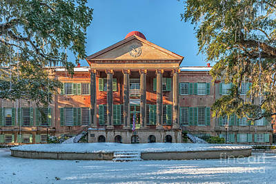 Photograph - College Of Charleston Covered In Snow by Dale Powell