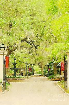 Photograph - College Of Charleston Watercolor by Dale Powell