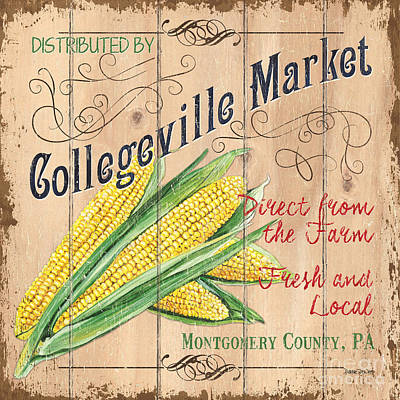 Local Food Painting - Collegeville Market by Debbie DeWitt