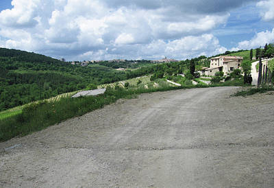 Chianti Hills Digital Art - Collelungo Farmhouse by Linda Ryan