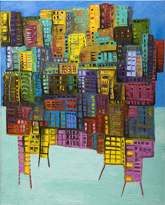 Collide Art Print by Maria Curcic