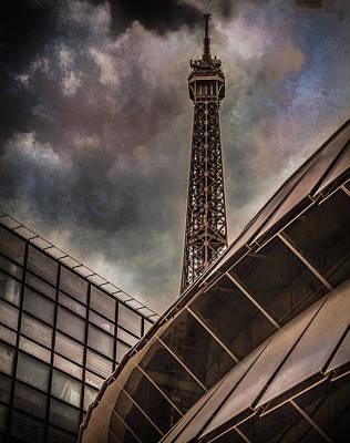 Photograph - Paris, France - Colliding Grids by Mark Forte