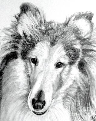 Collie Rough Lover Art Print by Susan A Becker