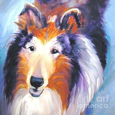 Painting - Collie Sable Rough 2 by Susan A Becker