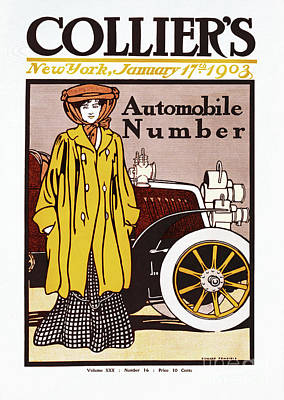 Collier Drawing - Collier Automobile Number 1903 by Heidi De Leeuw